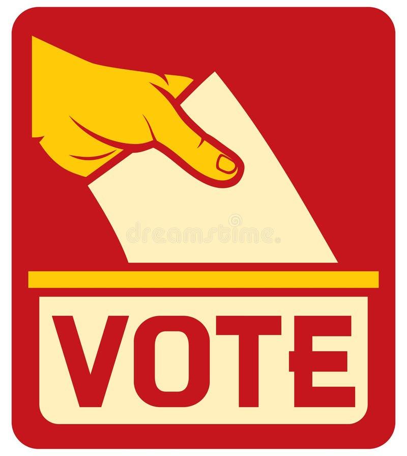 Etiqueta do voto ilustração stock