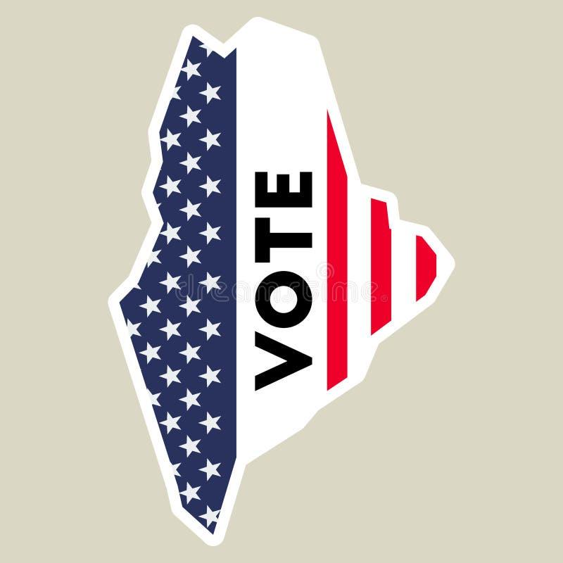 Etiqueta do voto da eleição presidencial 2016 dos EUA ilustração royalty free