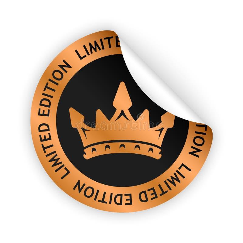 Etiqueta dobrada da edição limitada do vetor ilustração royalty free
