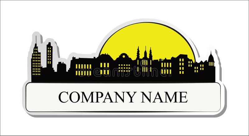 Etiqueta dos bens imobiliários ilustração royalty free