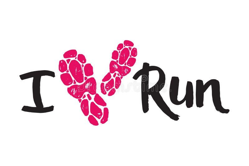 A etiqueta dos emblemas do logotipo running da maratona e o sucesso movimentando-se do crachá da motivação da sprint do símbolo d ilustração do vetor