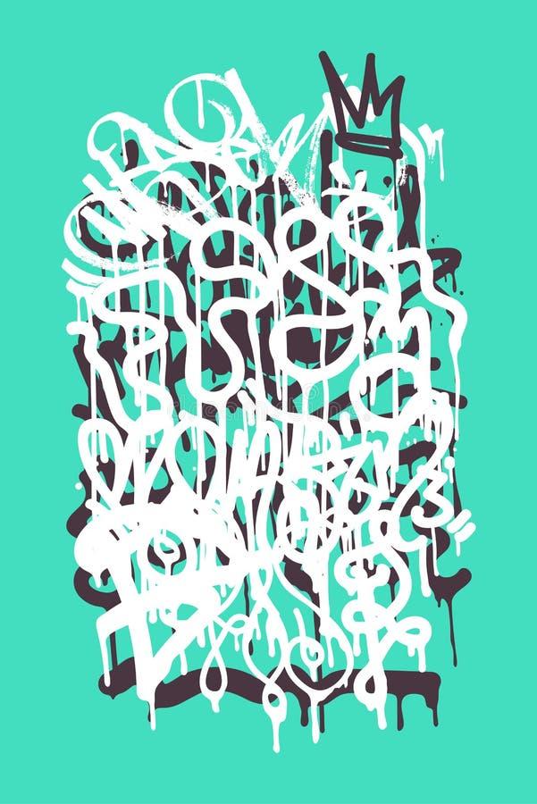 Etiqueta dos grafittis ilustração royalty free