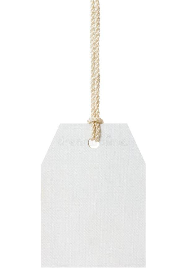 Etiqueta e corda em branco imagens de stock