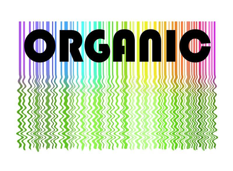 Etiqueta e fundo orgânicos ilustração do vetor
