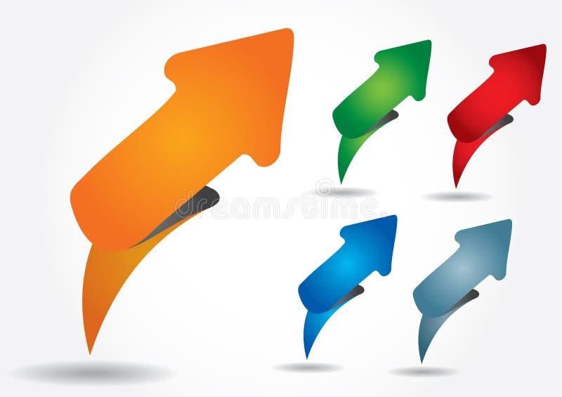 Etiqueta editable abstrata da tira de cor ilustração stock