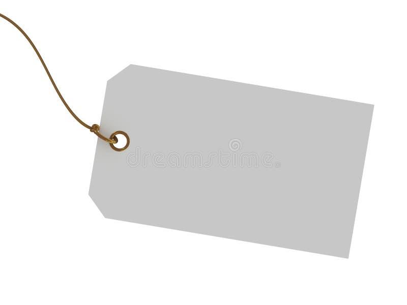 Etiqueta em branco com uma corda ilustração stock