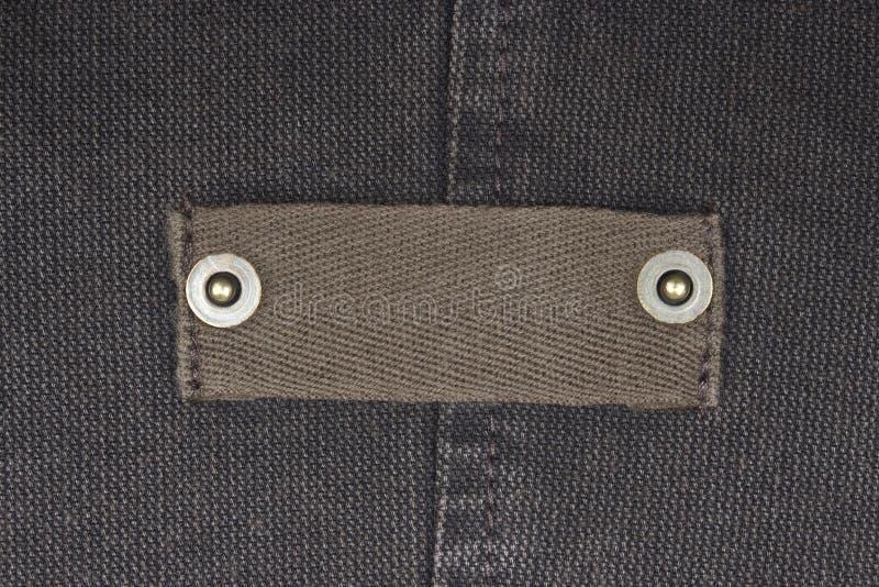 Etiqueta em branco das calças de brim imagem de stock