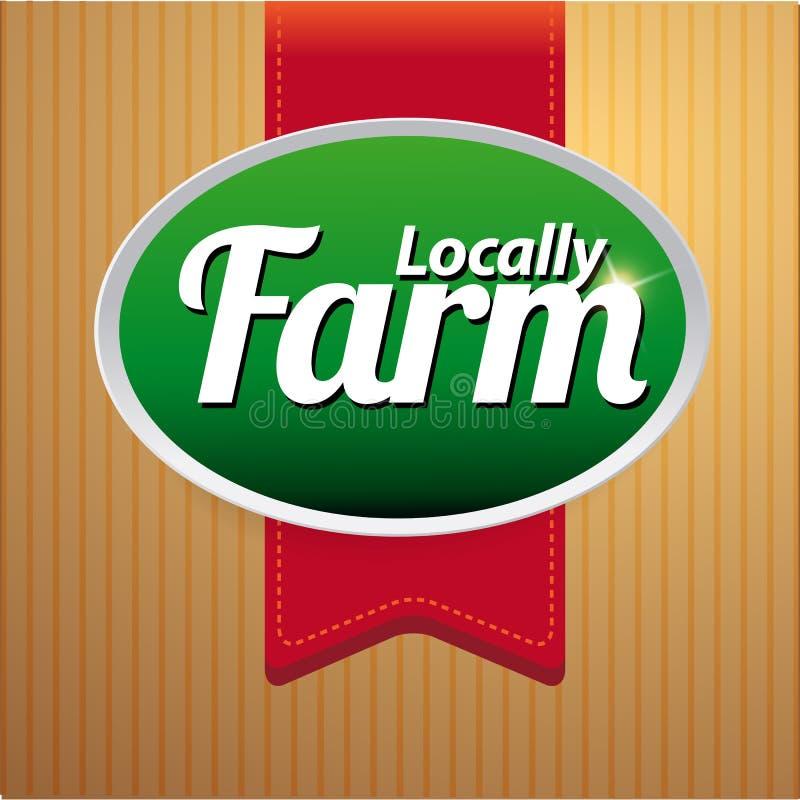 Etiqueta, emblema ou selo do alimento da exploração agrícola ilustração royalty free