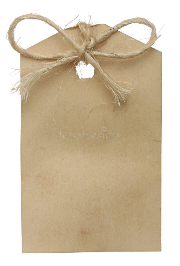 Etiqueta en blanco imagen de archivo libre de regalías