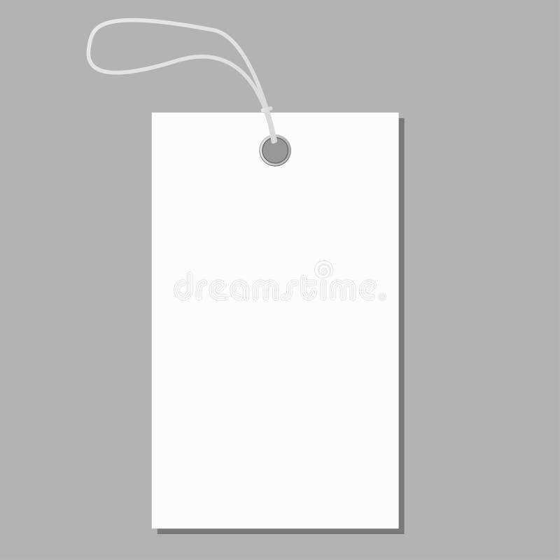 Etiqueta en blanco blanca en vector gris del fondo ilustración del vector