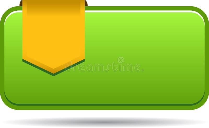 Etiqueta en blanco de las ventas con la cinta stock de ilustración