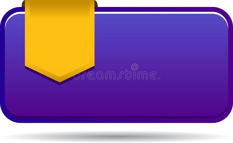 Etiqueta en blanco de las ventas con la cinta libre illustration
