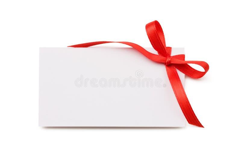 Etiqueta en blanco del regalo foto de archivo libre de regalías