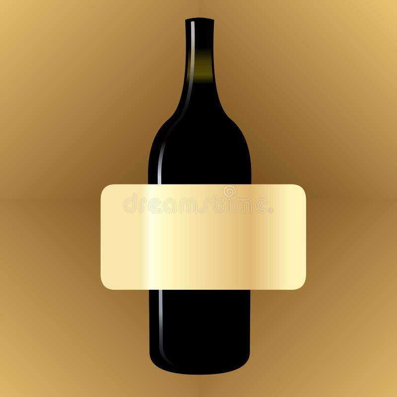 Etiqueta en blanco del vino del vintage libre illustration