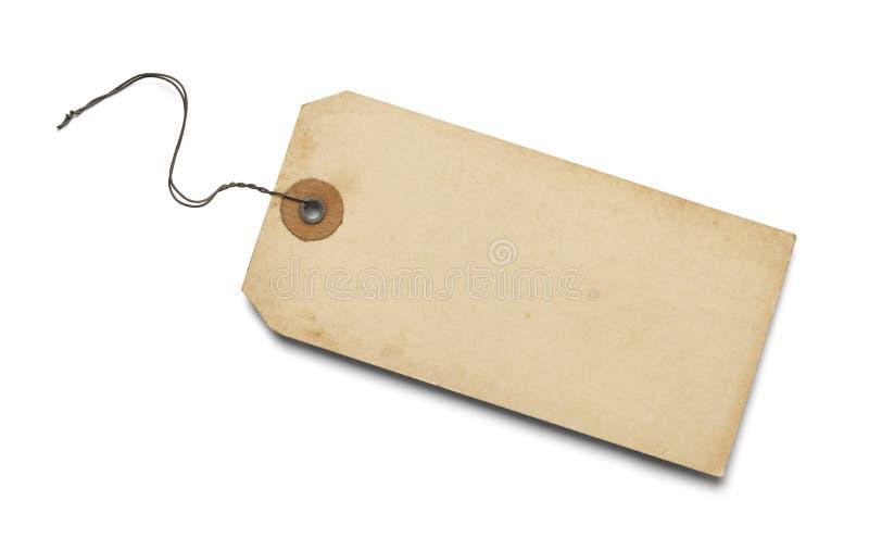 Etiqueta en blanco vieja foto de archivo libre de regalías
