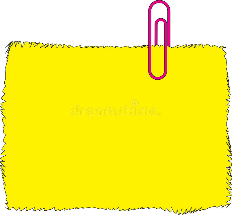 Etiqueta engomada amarilla foto de archivo