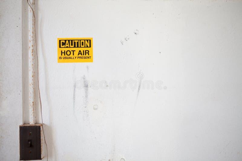 ¡Precaución! ¡Aire caliente! fotografía de archivo