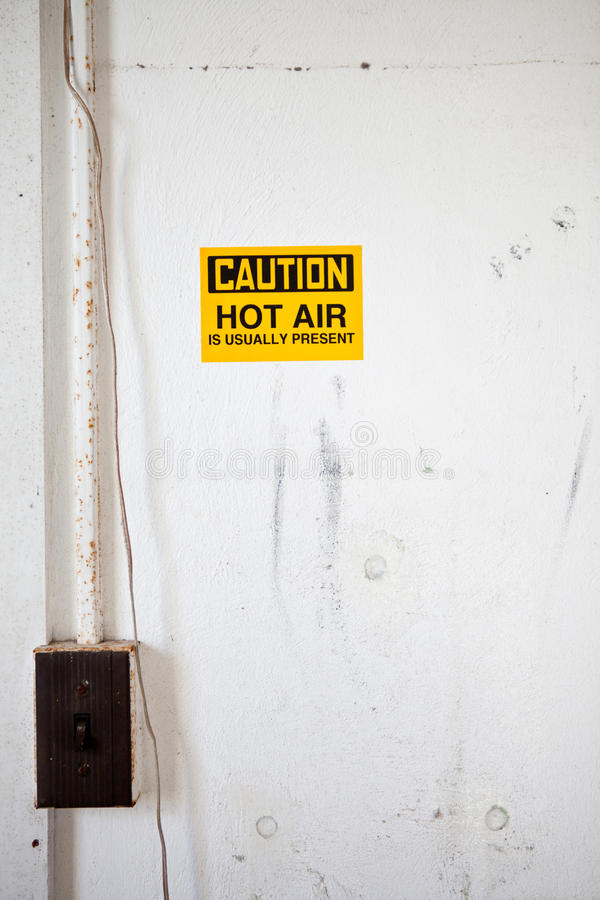 ¡Precaución! ¡Aire caliente! fotos de archivo libres de regalías
