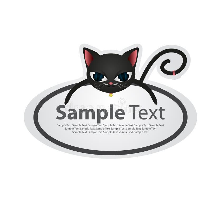 Etiqueta engomada con el diseño animal - gato libre illustration