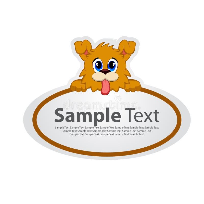 Etiqueta engomada con el diseño animal - perro stock de ilustración