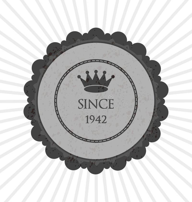 Etiqueta engomada creativa gris ilustración del vector