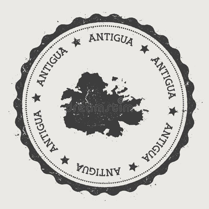 Etiqueta engomada de Antigua ilustración del vector