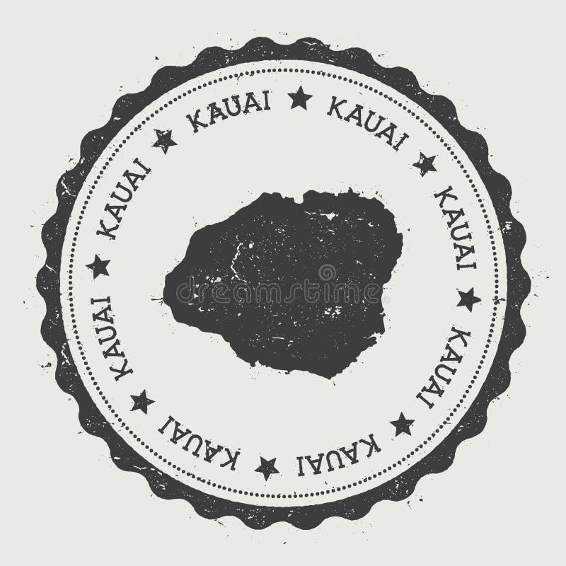 Etiqueta engomada de Kauai stock de ilustración