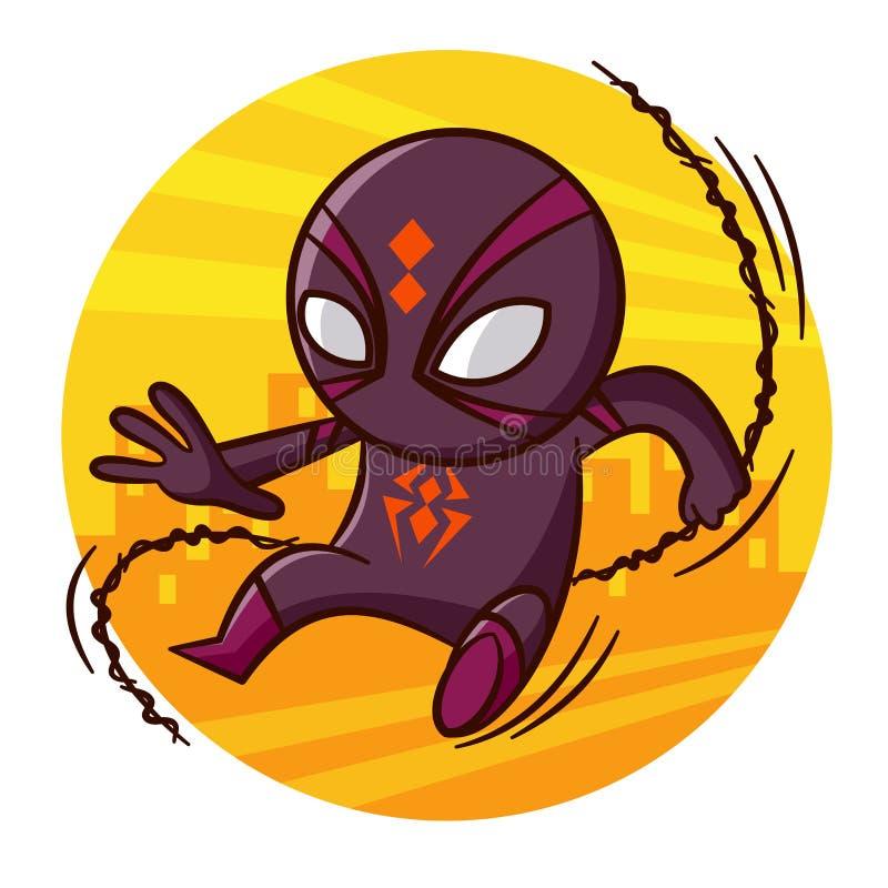 Etiqueta engomada de la araña del super héroe libre illustration