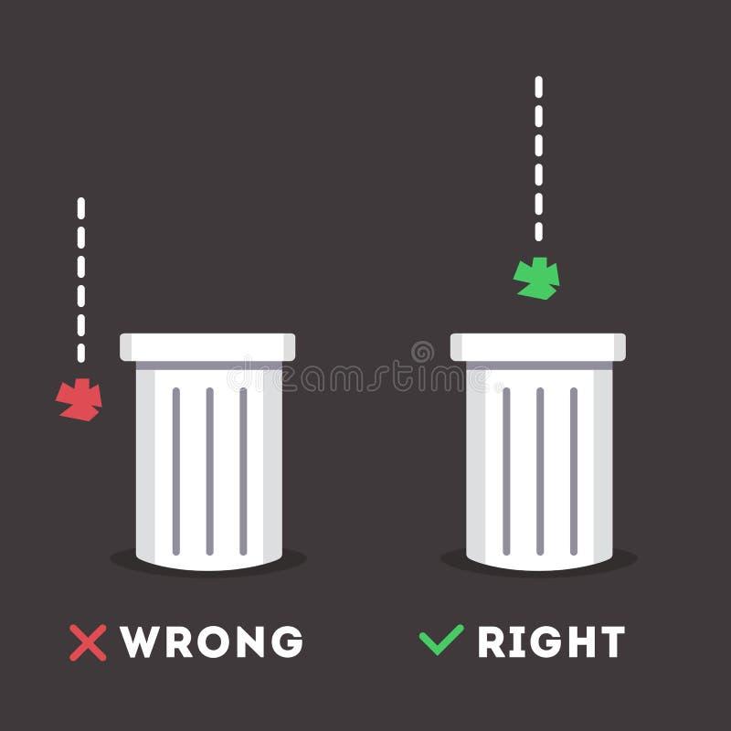 Etiqueta engomada de la basura libre illustration