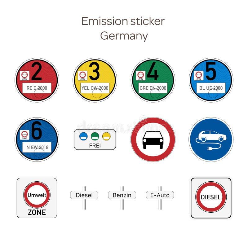 Etiqueta engomada de la emisión - Alemania ilustración del vector