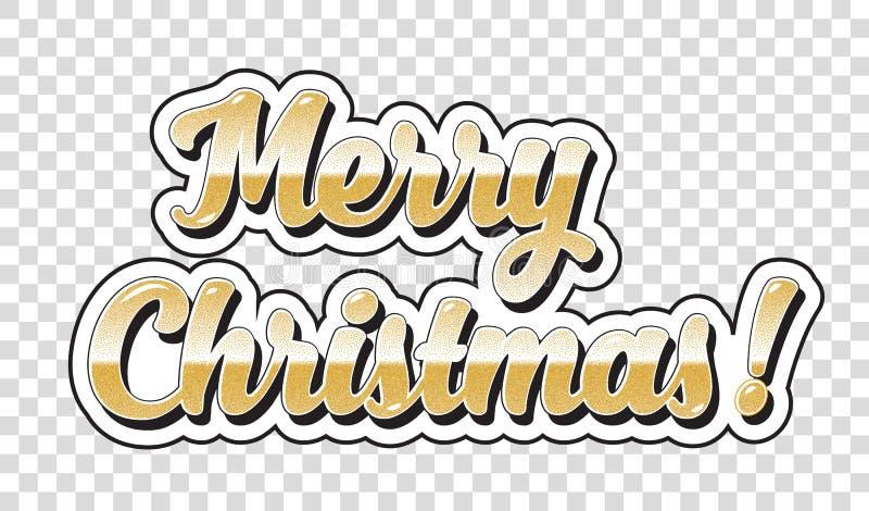 Etiqueta engomada de la Feliz Navidad libre illustration