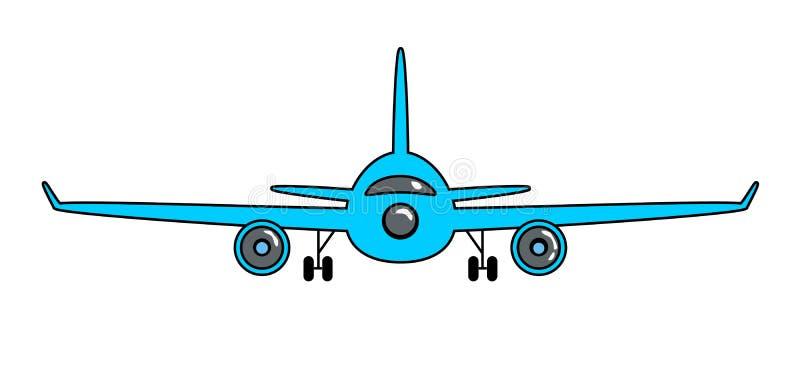 Etiqueta engomada de la historieta del aeroplano en estilo retro ilustración del vector