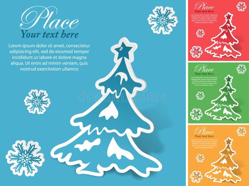 Etiqueta engomada de la Navidad ilustración del vector