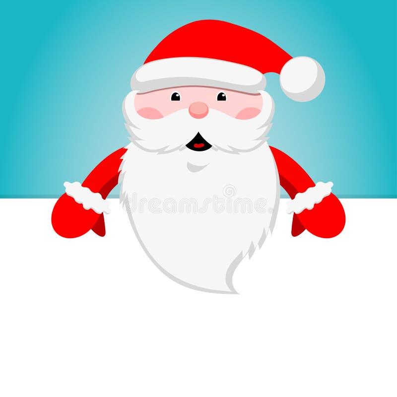 Etiqueta engomada de la Navidad Papá Noel divertido Icono del invierno Ilustración del vector stock de ilustración