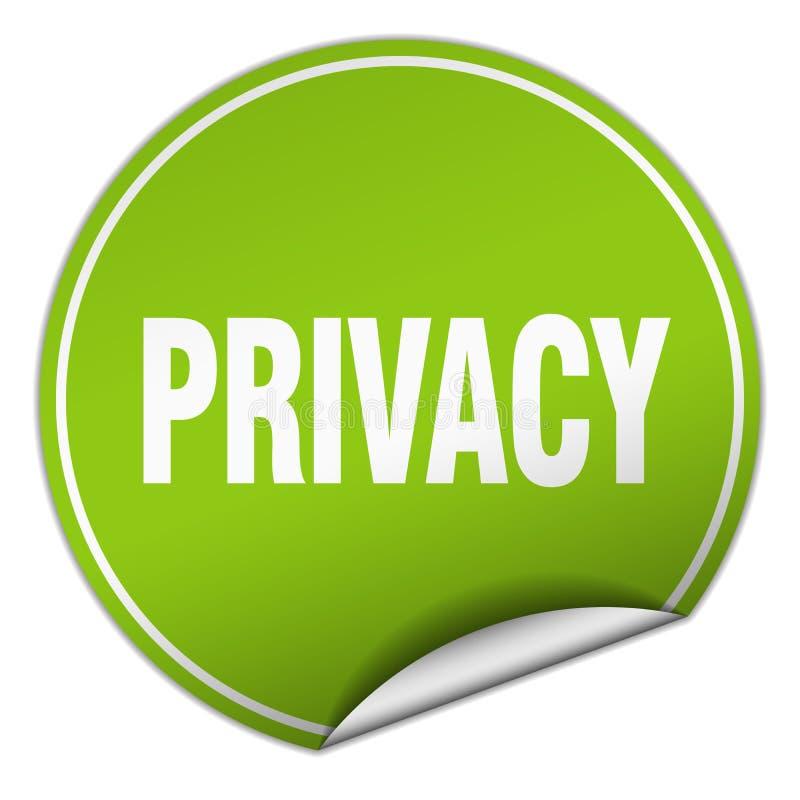 etiqueta engomada de la privacidad libre illustration