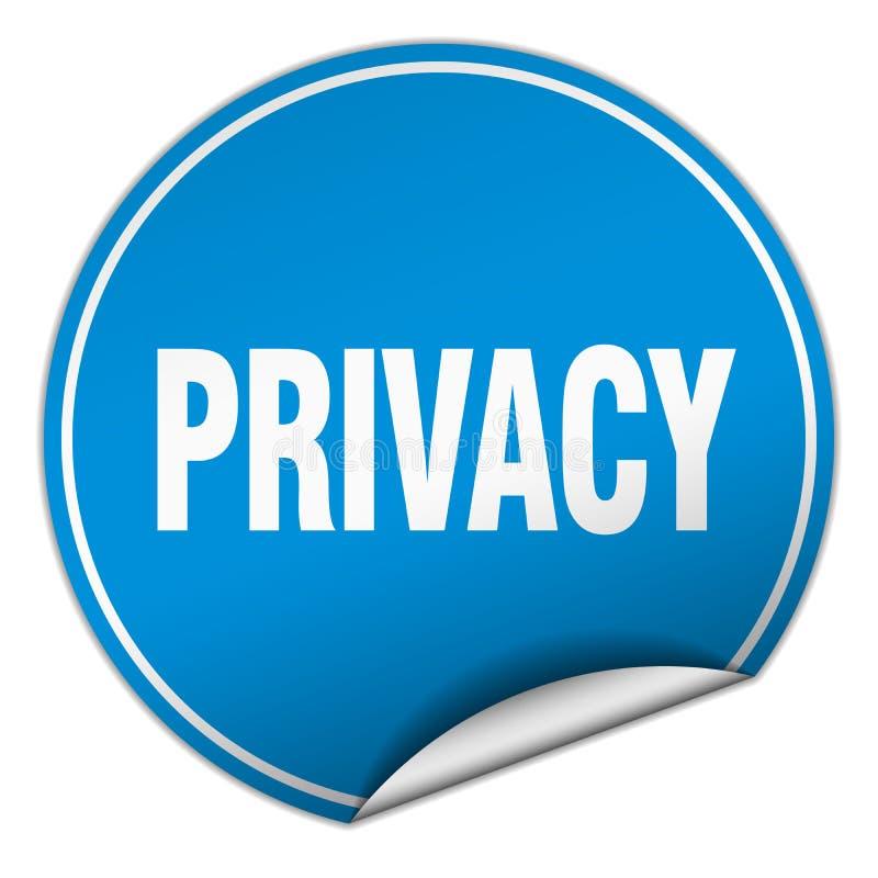 etiqueta engomada de la privacidad stock de ilustración