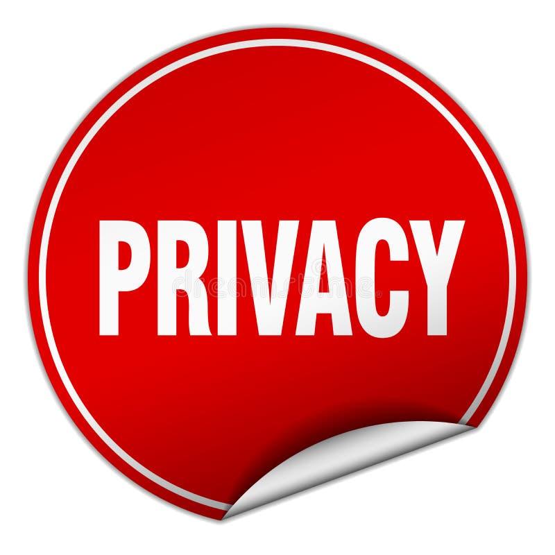 etiqueta engomada de la privacidad ilustración del vector