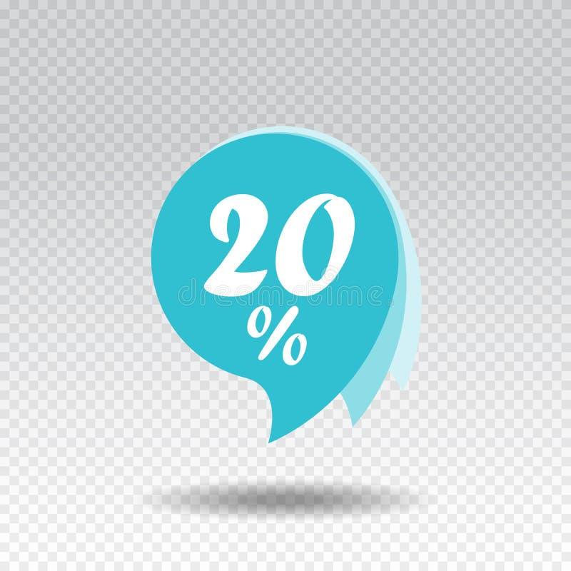 Etiqueta engomada de la venta Descuento el 20% Diseño de la plantilla de la bandera de la oferta especial Vector libre illustration