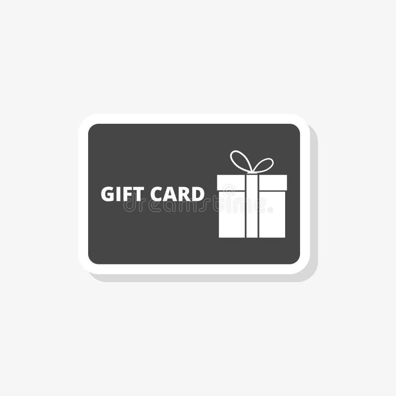 Etiqueta engomada del carte cadeaux, cupón del descuento, icono simple del vector libre illustration