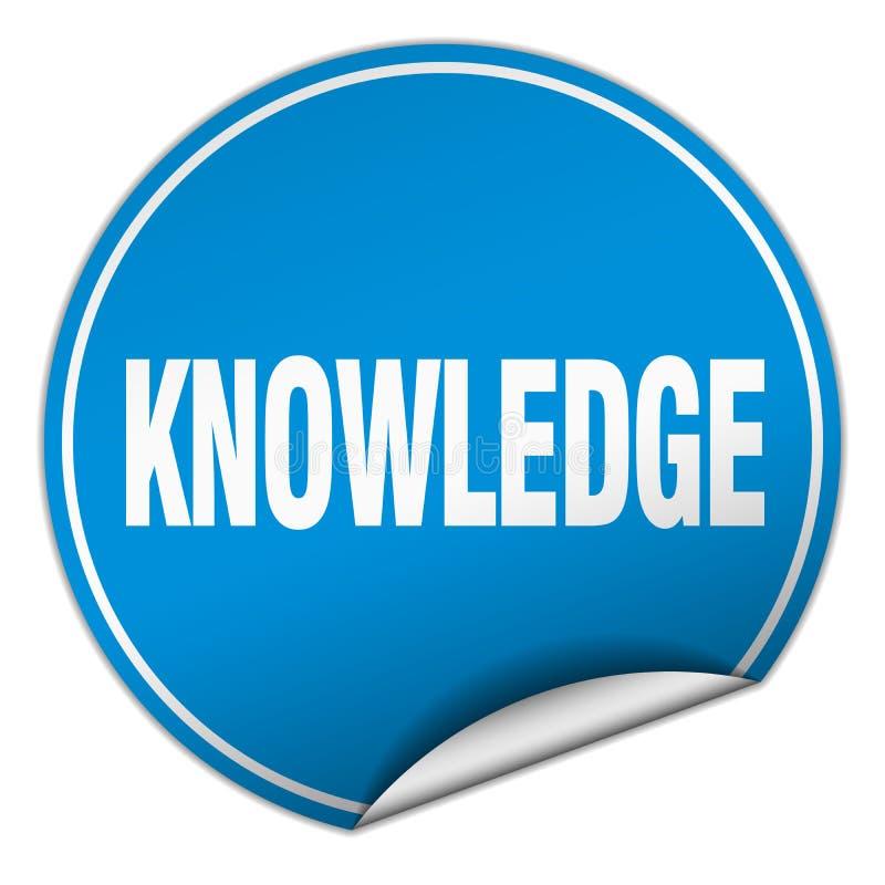 etiqueta engomada del conocimiento stock de ilustración