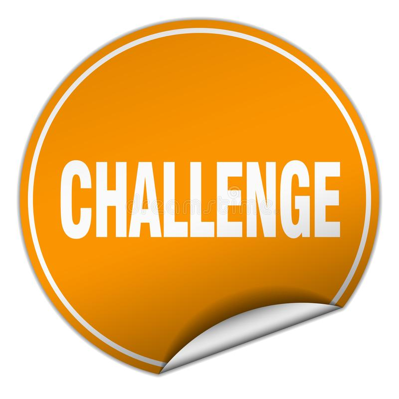 Etiqueta engomada del desafío ilustración del vector