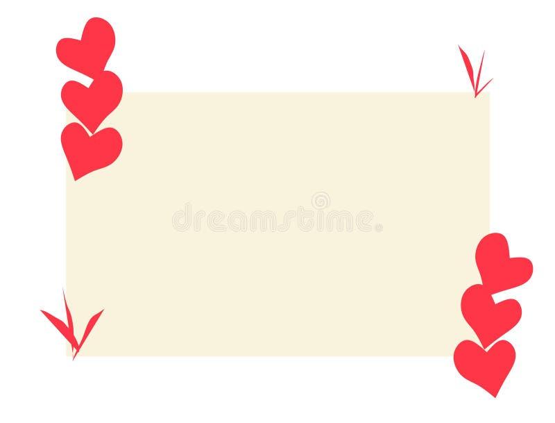 Etiqueta engomada del ejemplo del vector del diseño de tarjeta del amor foto de archivo
