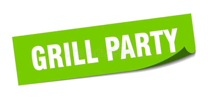 etiqueta engomada del partido de la parrilla muestra aislada partido de la parrilla Partido de la parrilla libre illustration