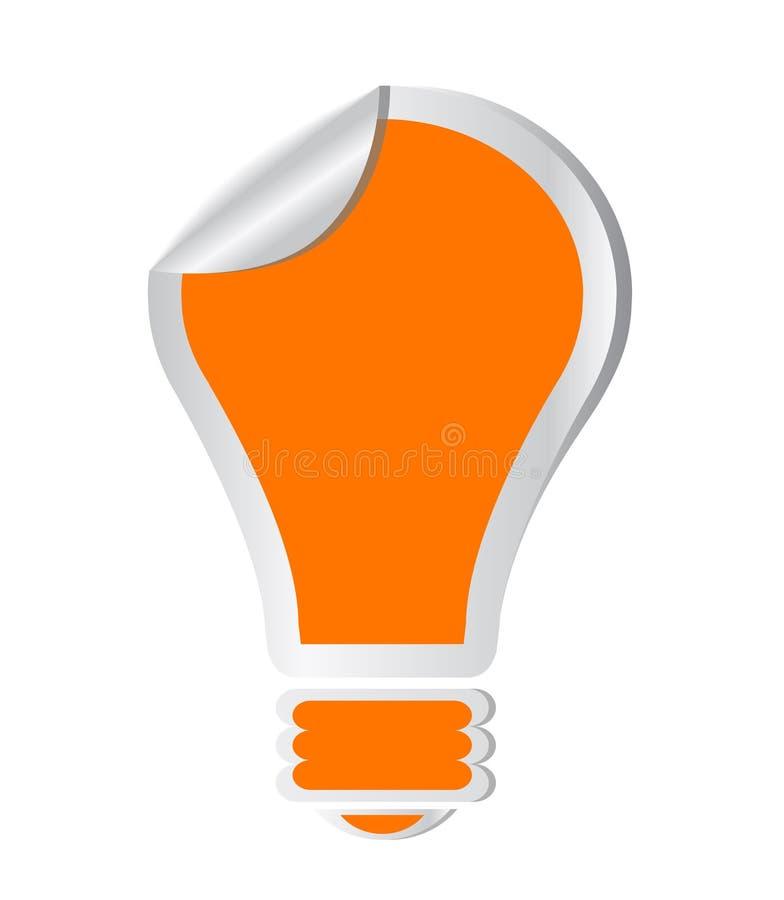 Etiqueta engomada del vector del bulbo ilustración del vector