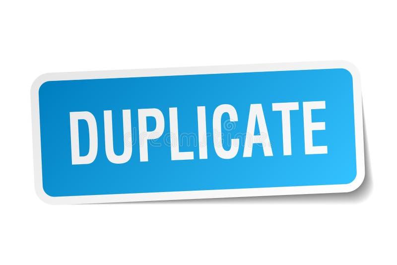etiqueta engomada duplicado ilustración del vector