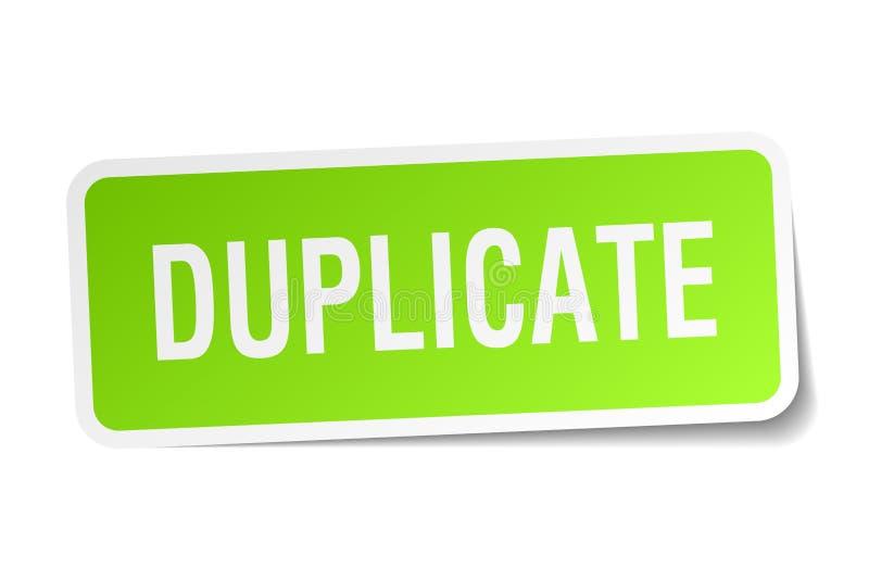 etiqueta engomada duplicado stock de ilustración