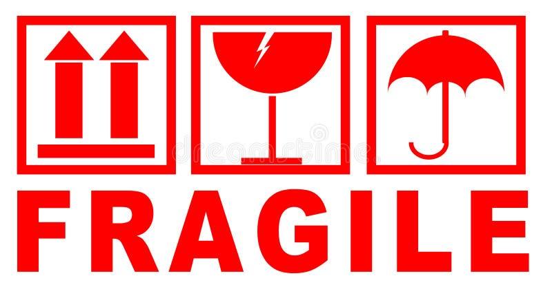 Etiqueta Engomada Frágil Para Empaquetar Stock De Ilustración Ilustración De Rotura Salida 120954368