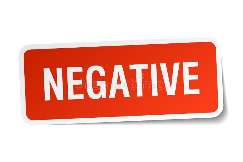 etiqueta engomada negativa ilustración del vector