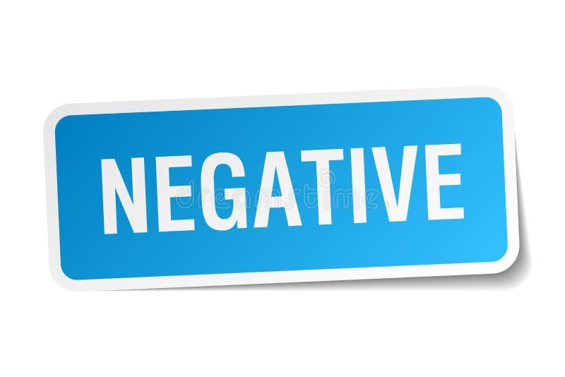 etiqueta engomada negativa libre illustration