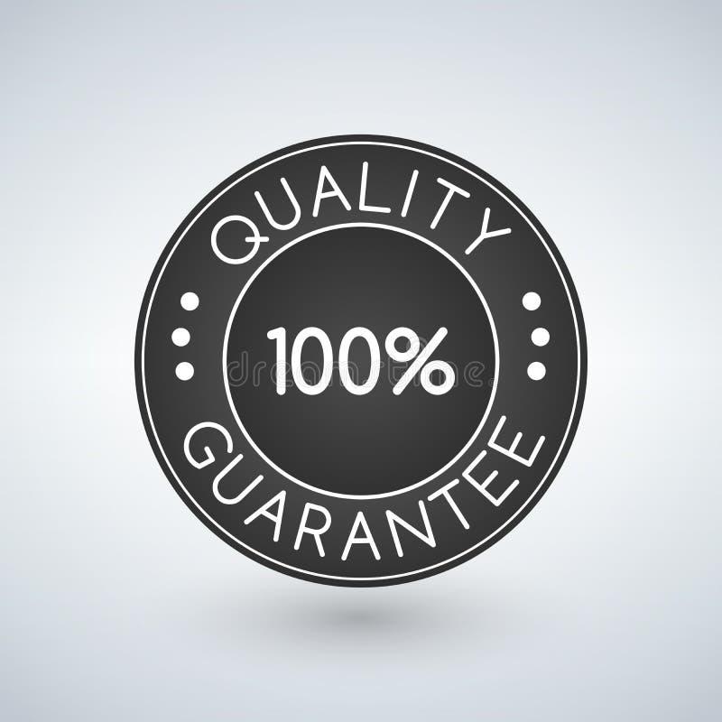 Etiqueta engomada o etiqueta, ejemplo de la garantía de calidad 100 stock de ilustración